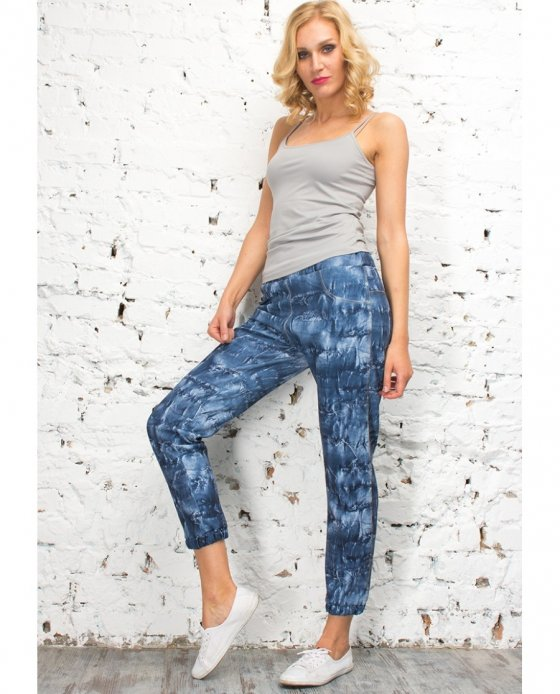 L8047 Леггинсы LEGGINGS JOGGER SCUBINO NAVY
